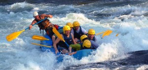 White water river rafting in Rishikesh